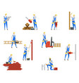 people at builder professions job and work vector image vector image