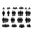 people icons human community group crowd vector image