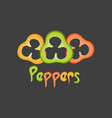 peppers logo vector image