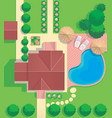 plan cottage site vector image
