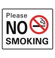 please no smoking icon simple style vector image