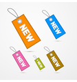 Retro Paper Labels Tags With Strings and Title New vector image vector image