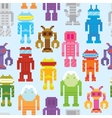 Retro robots seamless pattern vector image