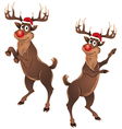 Rudolph The Reindeer Dancing vector image vector image