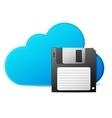save to cloud concept vector image vector image