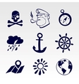 Seafaring icons set vector image