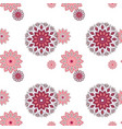 seamless hand drawn mandala pattern vintage vector image