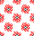 Seamless texture abstract embroidered red flowers vector image