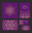 set ethnic circle pattern of corporate identity vector image vector image