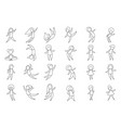 set line people in motion vector image