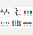 set of arrows infographic design layouts vector image