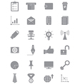 Set of gray business icons vector image vector image