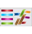 Set of ribbons and banners with paper cuts and vector image