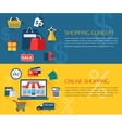 Set of shopping and online shopping concept vector image vector image