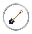 Shovel icon in cartoon style isolated on white vector image