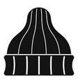 striped winter beanie icon simple style vector image vector image