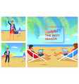 summer the best season cute vector image vector image