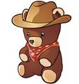 Teddy Bear Cowboy Cartoon Character vector image