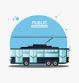 tram urban public transport vector image vector image