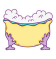tub bath cartoon vector image