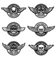 set of biker club emblems templates emblems with vector image