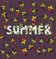 unique lettering poster with word summer vector image