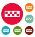 taxi cab icons circle set vector image