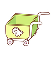 A view of cart vector image vector image