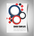 abstract report cover 1 vector image vector image