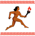 Ancient Greek athlete vector image vector image
