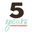 ANNIVERSARY script9 resize vector image vector image