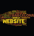 barcelona text background word cloud concept vector image vector image