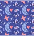 boho romantic pattern modern flat art print with vector image vector image