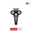 bouquet icon vector image vector image