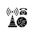 business communication black icon concept vector image