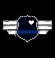 captain blue officer - thin blue line - police vector image