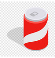 carbonated drink isometric icon vector image vector image