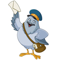 carrier pigeon cartoon vector image