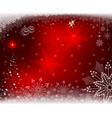 christmas red background with shiny christmas tree vector image vector image