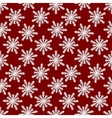 Christmas seamless pattern from white snowflakes vector image vector image