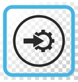 Cog Integration Icon In a Frame vector image