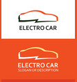 colorful logo of electro car vector image vector image