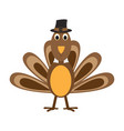comic turkey icon vector image vector image
