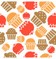 cupcake and muffin seamless pattern bakery product vector image