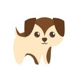 cute puppy little brown standing vector image