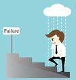 Depression bankruptcy unemployed sadness hopeless vector image vector image