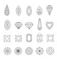 Doamonds 3 vector image vector image