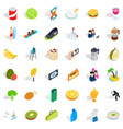 dynamic icons set isometric style vector image vector image