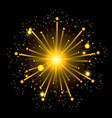 fireworks bursting in shape of star with yellow vector image vector image