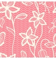 Flower lacy seamless background vector image